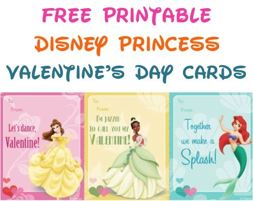 graphic about Printable Kid Valentines called No cost Printable Disney Princess Valentines Working day Playing cards