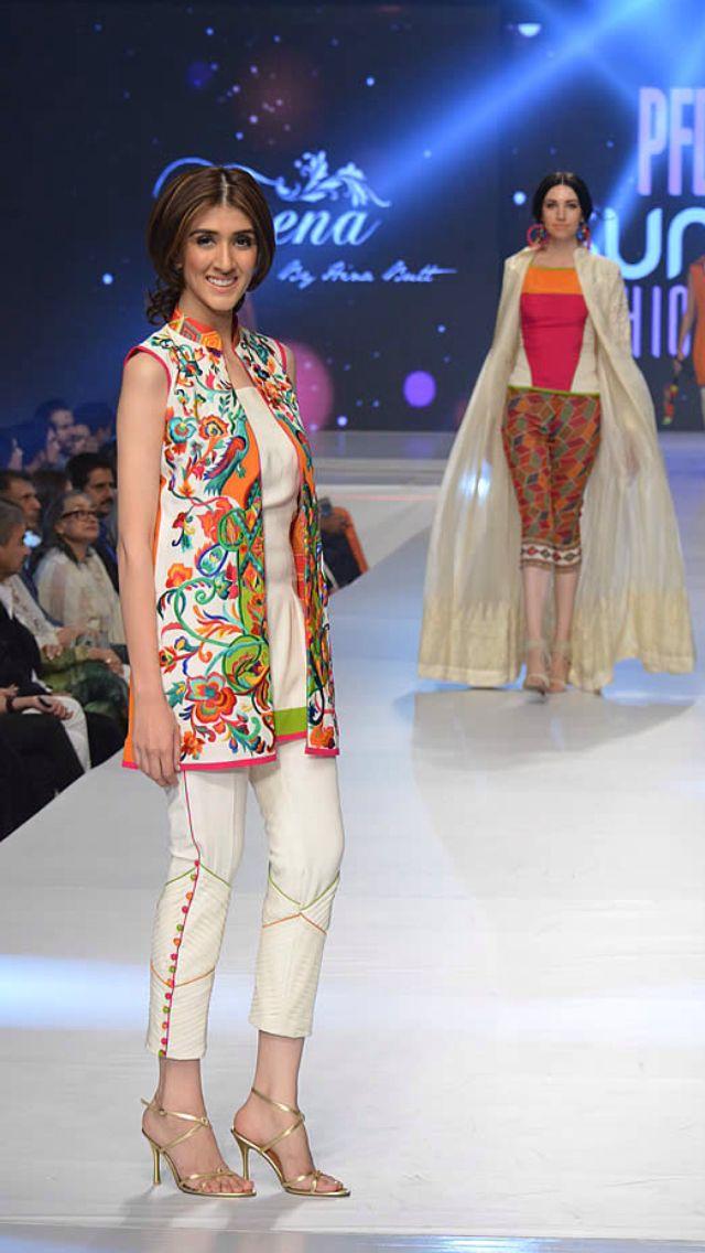 Teena 2015 Fashion Pakistani Dress Design Simple Dresses