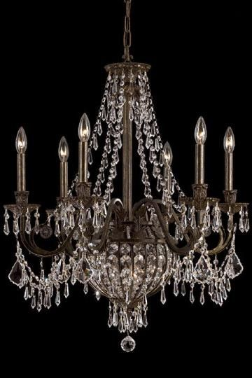 Paris flea nine light crystal chandelier with english bronze home home decorators collection bronze chandeliercrystal aloadofball Image collections
