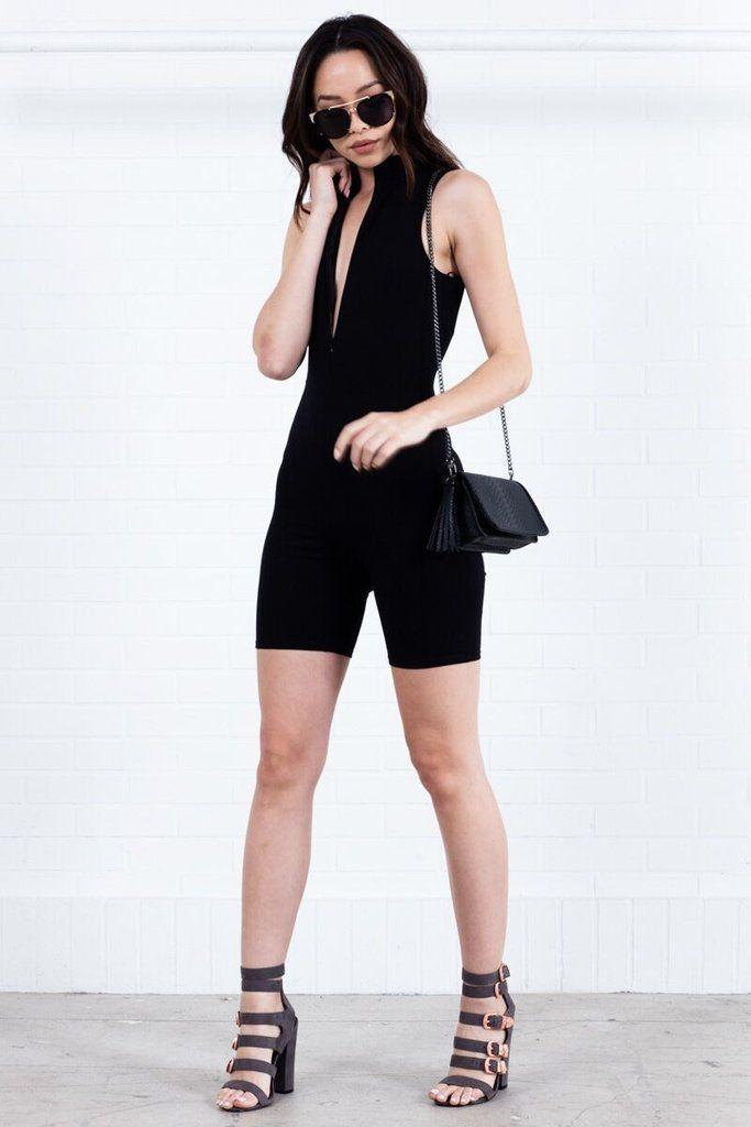 dd276458273 Sleeveless One Piece Bodysuit - Black