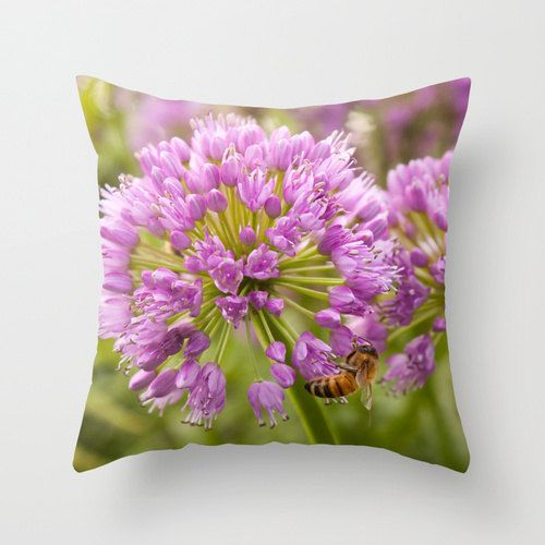 Honeybee Flower pillow home decor cushion by LegendsofDarkness, $34.95