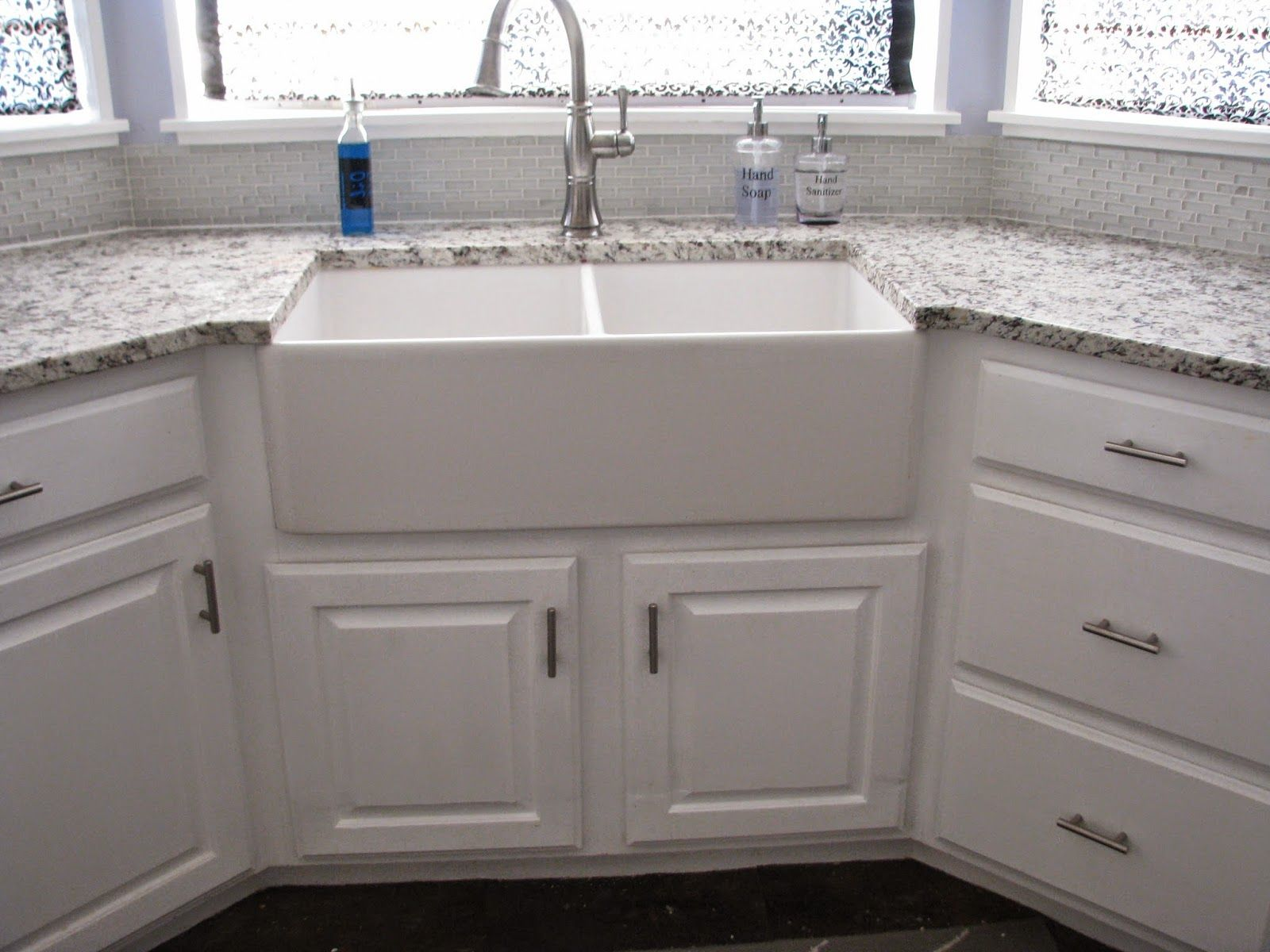 My So Called Diy Blog Resize Your Existing Cabinet And Doors To Fit An Apron Front Sink Kitchen Island With Sink Sink White Kitchen Wall Tiles
