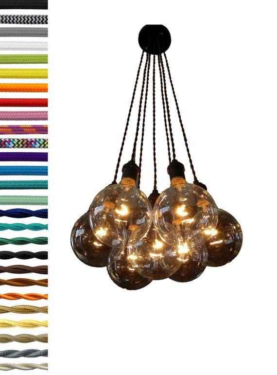 7 Cluster Hanging Light Chandelier Pendant Lighting modern ...