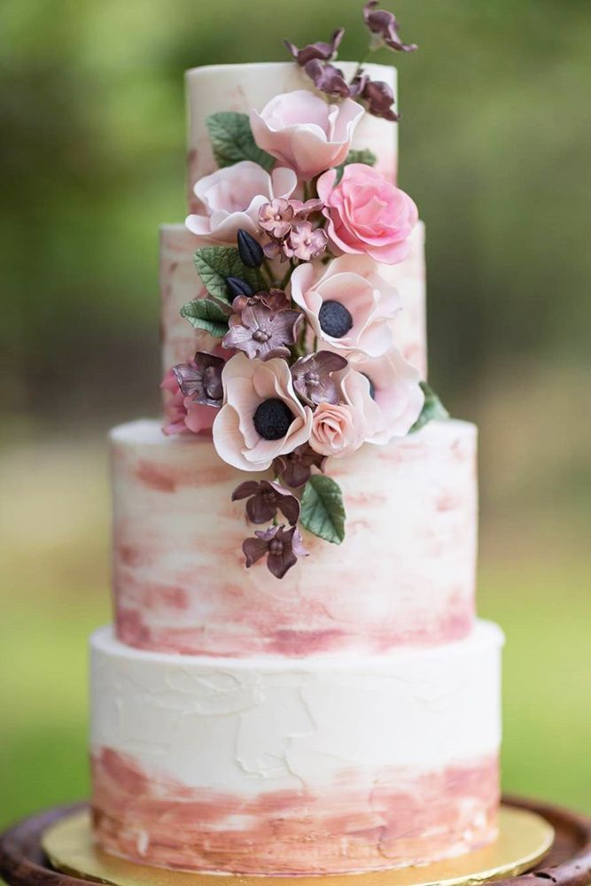 36 Trendy Marble Wedding Cakes Wedding Cake Roses Watercolor