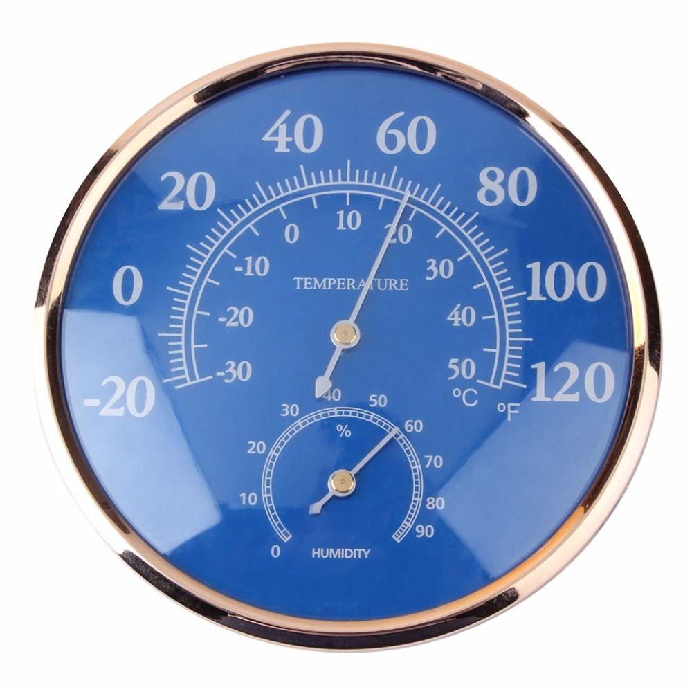 우수한 qualityLarge 라운드 온도계 습도계 온도 습도 모니터 미터 게이지