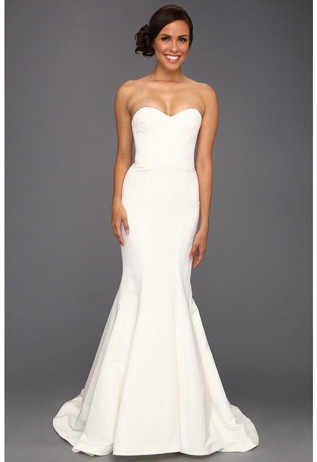 Nicole Miller Dakota Silk Faille Strapless Gown (Ivory) - women\'s ...