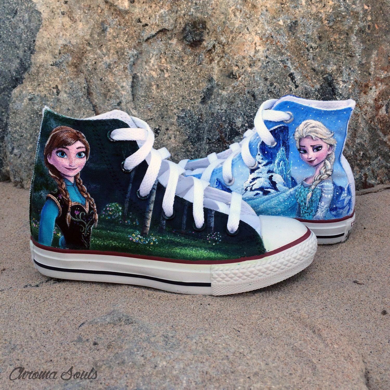 f69abf3de1f1 Frozen shoes by ChromaSouls on Etsy https   www.etsy.com