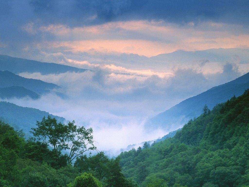 Smoky Mountains Summer Summer Storm Approaching