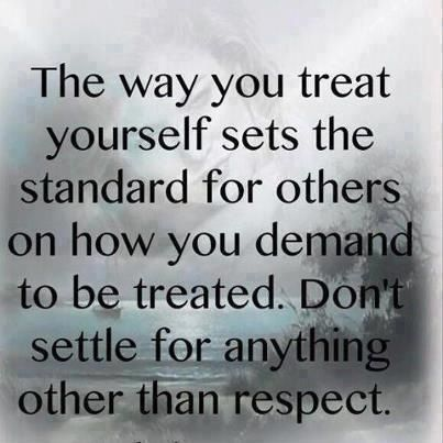 People treat you the way you allow them to!