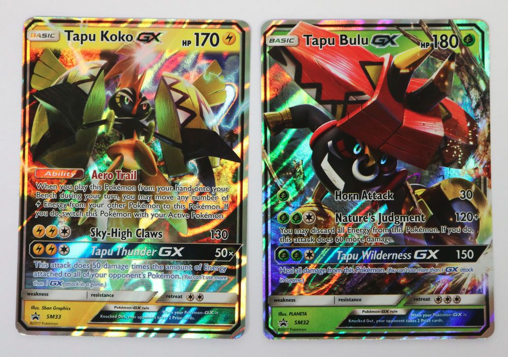 SM32 Pokemon Card Excellent Tapu Bulu GX Promo