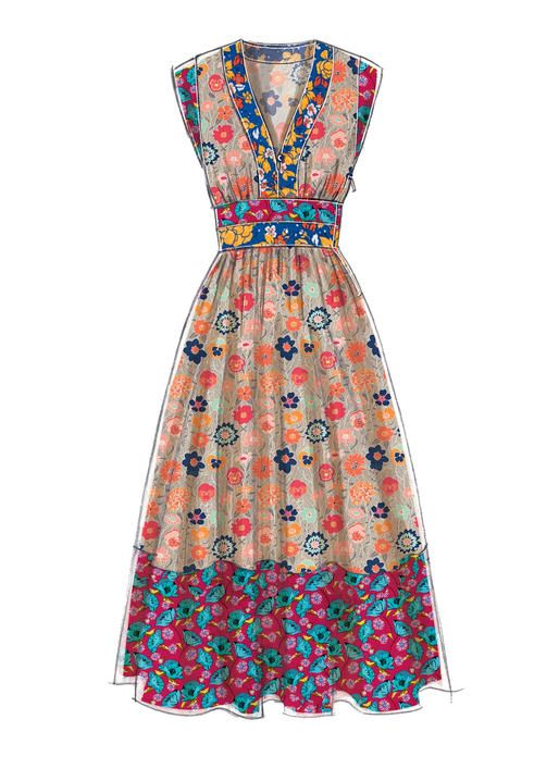 M60 McCall's Patterns Like The Idea For Using Contrasting Floral Impressive African Dress Patterns For Sewing