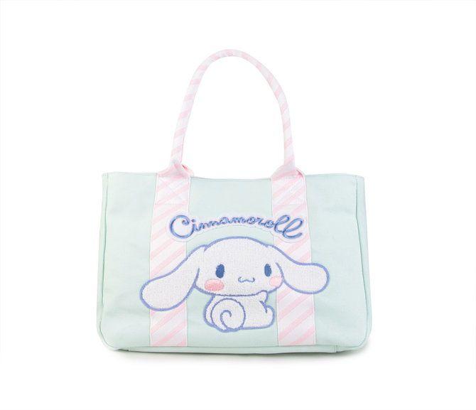 Cinnamoroll Tote Bag: Embroidered Stripe