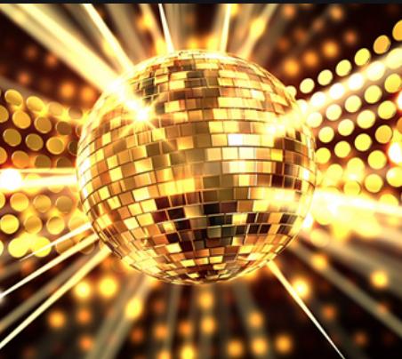 Gold Disco Dots Gold Holographic Glitter Decor Disco Ball Light Light Reflection