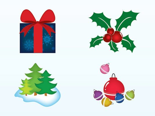 9 free vector packs for your christmas designscharacters icons shapes baubles - Christmas Designers