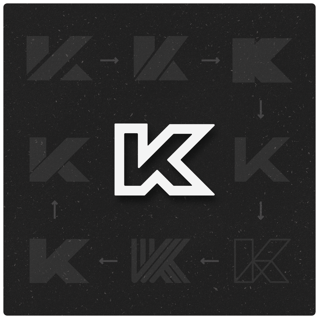 My Letter K Logo Design Process From End To End There S Nothing Wrong With Sharing The Mishaps The Bad Ideas And How Your Design Evolved Fro Logo Ideen Logos