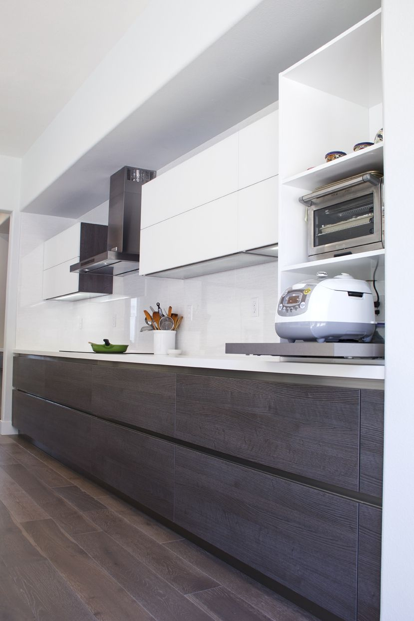 Simi Valley Project Bauformat Germany Kitchen Cabinet Bali 125 Rift Anthracite Oak Murano 803 Contemporary Kitchen Modern Kitchen Design Modern Kitchen