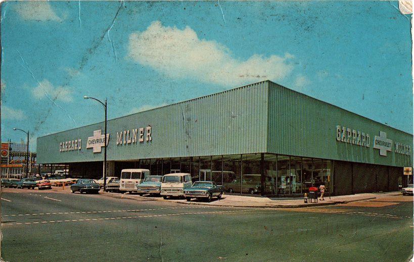 Boring Postcards Wfmu S Beware Of The Blog Postcard Chevrolet Dealership Street Scenes