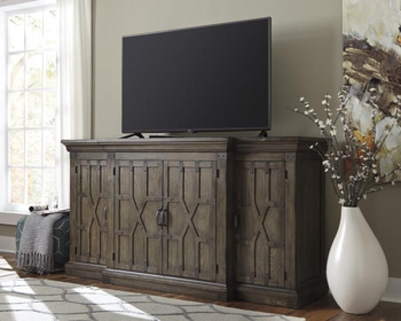 Extra Large Tv Stand Or Console Dark Wood With Details By Herb Hays Furniture