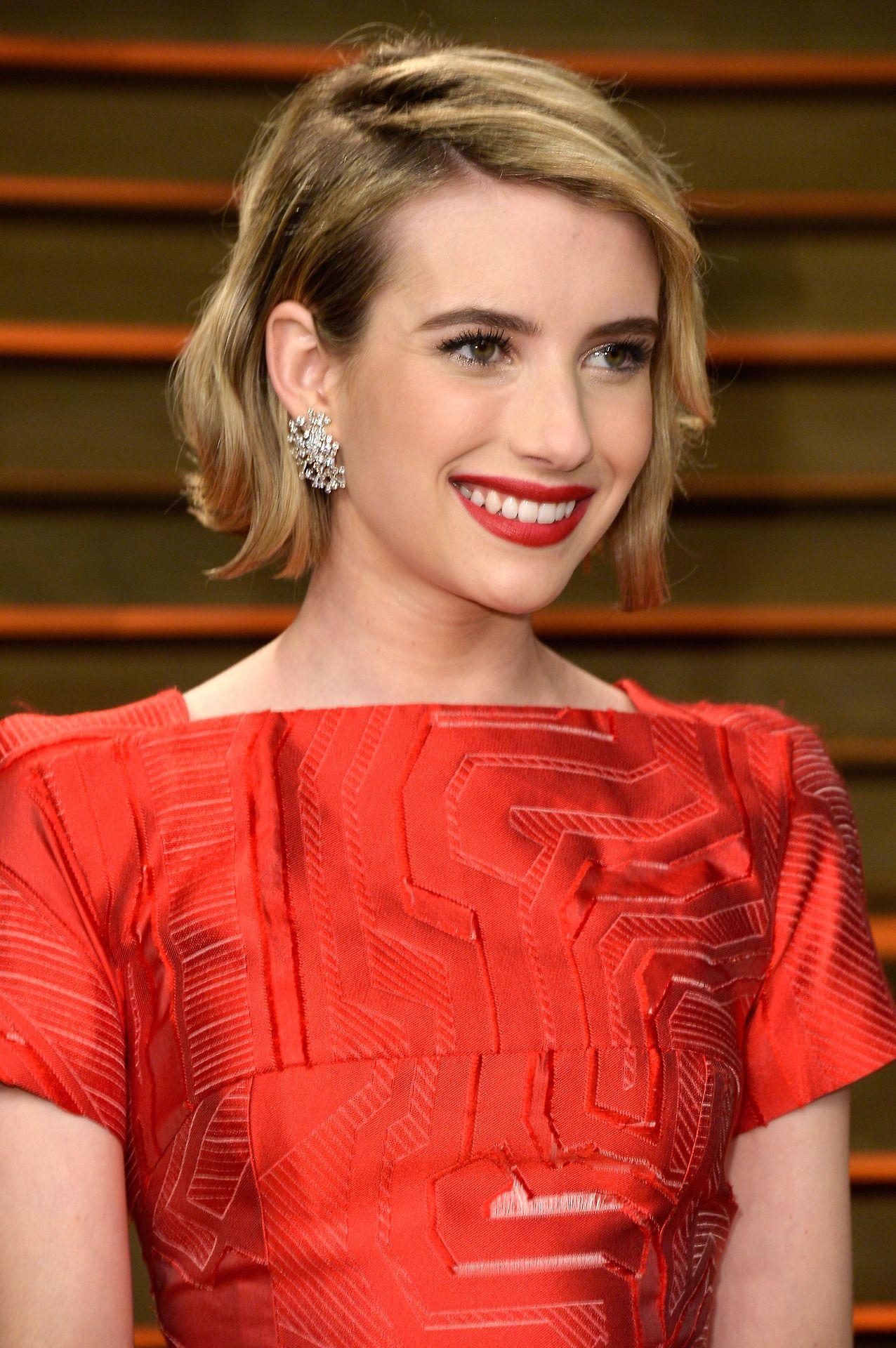Celebinspired date night makeup ideas emma roberts red