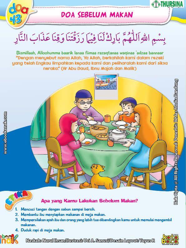 Gambar Anak Berdoa Sebelum Makan : gambar, berdoa, sebelum, makan, Belajar, Mengenal, Sebelum, Makan, Buku,