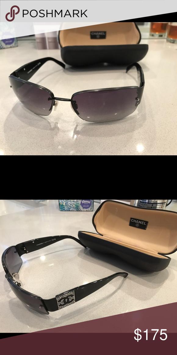 Chanel Sunglasses Black Chanel bedazzled sunglasses CHANEL Accessories Sunglasses