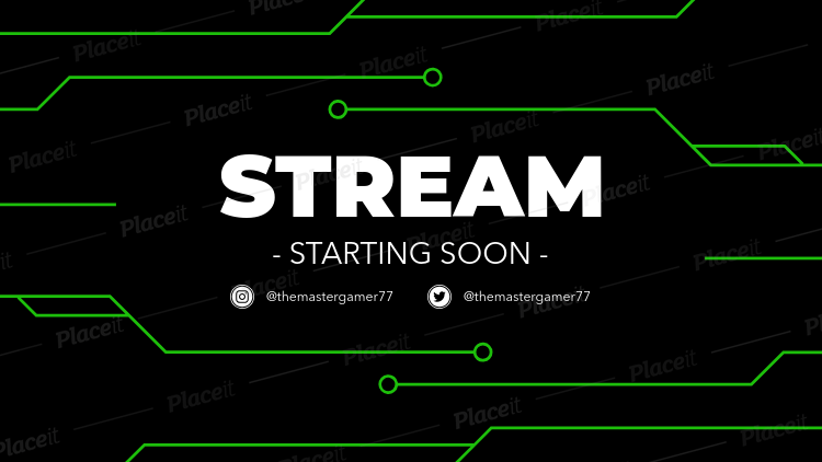Placeit Twitch Stream Starting Soon Overlay Maker With Chip Circuit Graphics How To Make Logo Photo Logo Design Streaming