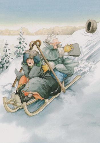 Winterlandschaft Sammeln & Seltenes Kunstpostkarte