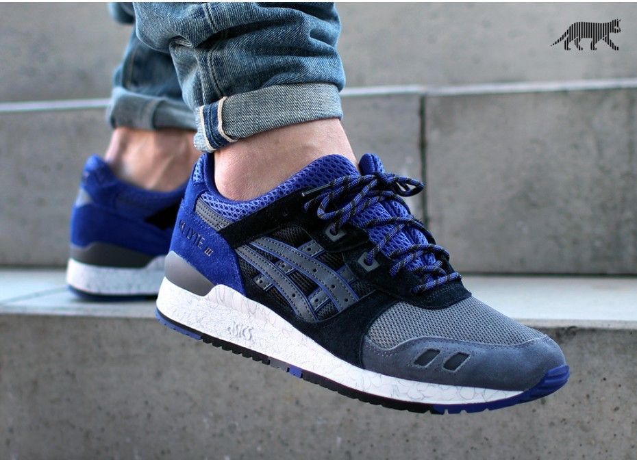 asics gel lyte 3 black and purple