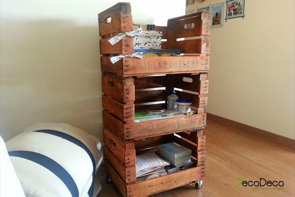 reciclar cajas de fruta y de vino para crear muebles - Muebles Con Cajas De Fruta