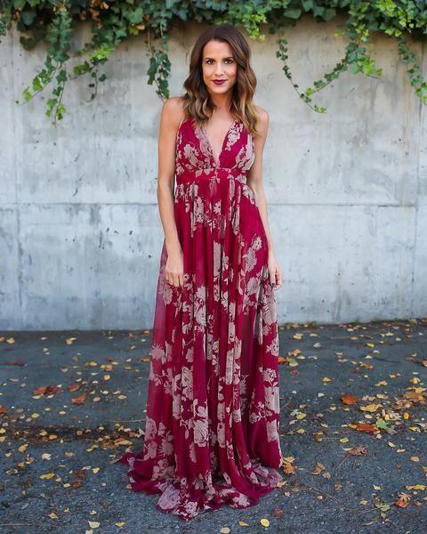 Hopeless Romantic Floral Maxi Dress Maxi Dress Summer Wedding Outfits