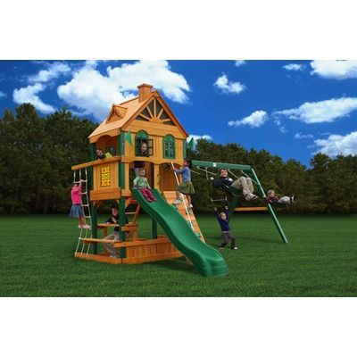 Gorilla Playsets Blue Ridge Riverview Swing Set Swing Sets