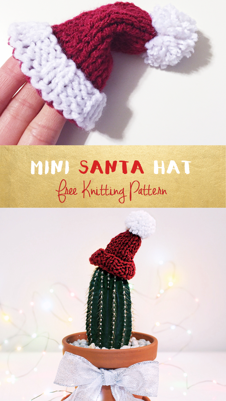 Free knitting pattern for a mini santa hat crochetknitting free knitting pattern for a mini santa hat bankloansurffo Images