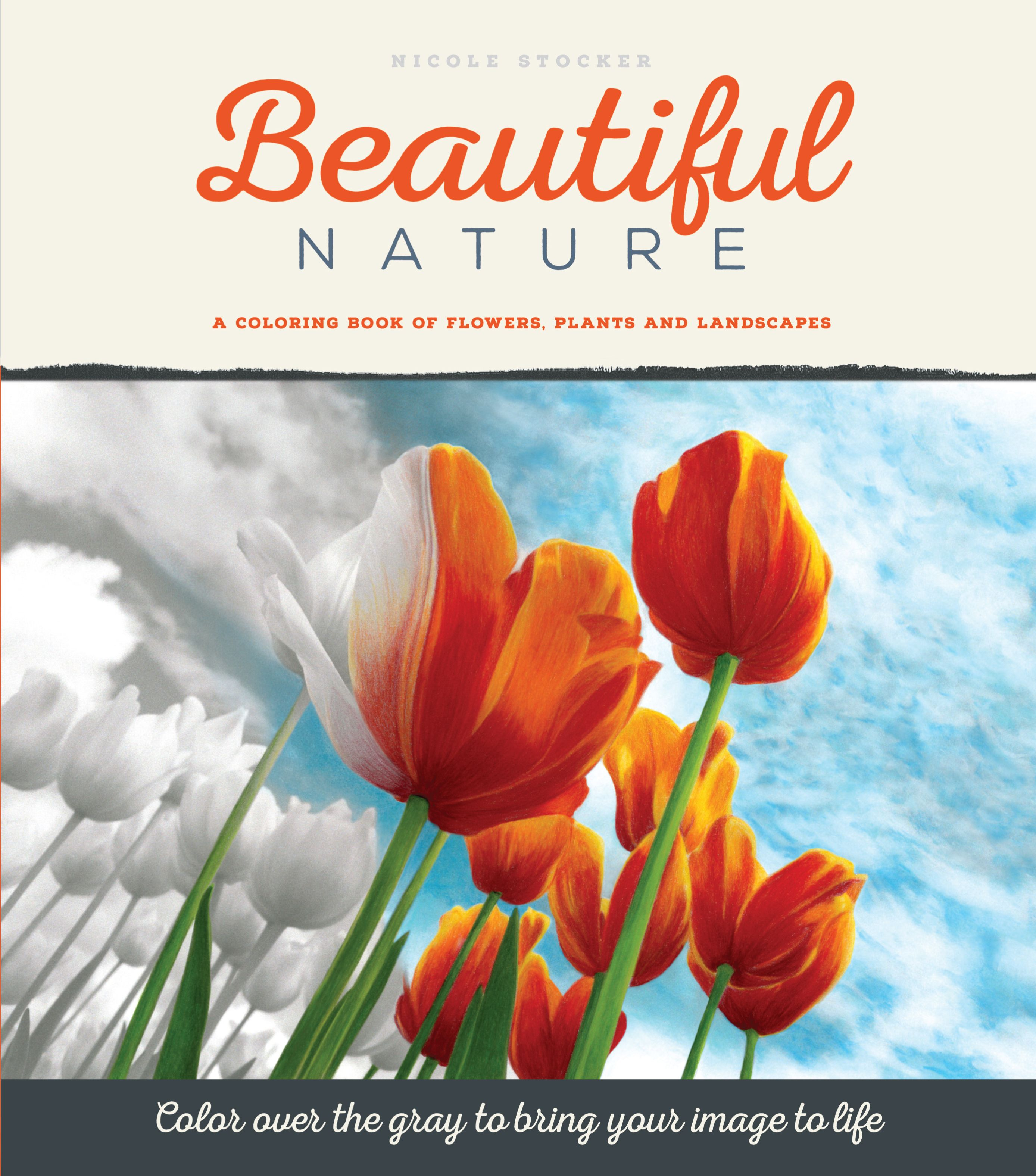 Beautiful Nature A Premium Quality Grayscale Coloring Book