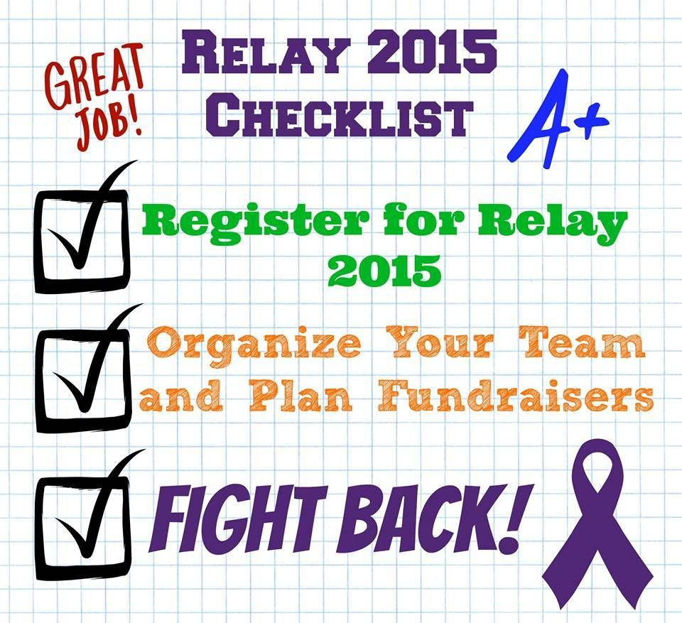 RFL Relay For Life Check List Fight Back