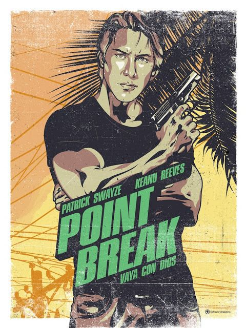 A2 A1 Point Break Keanu Reeves Vintage Movie Poster A4 available A3