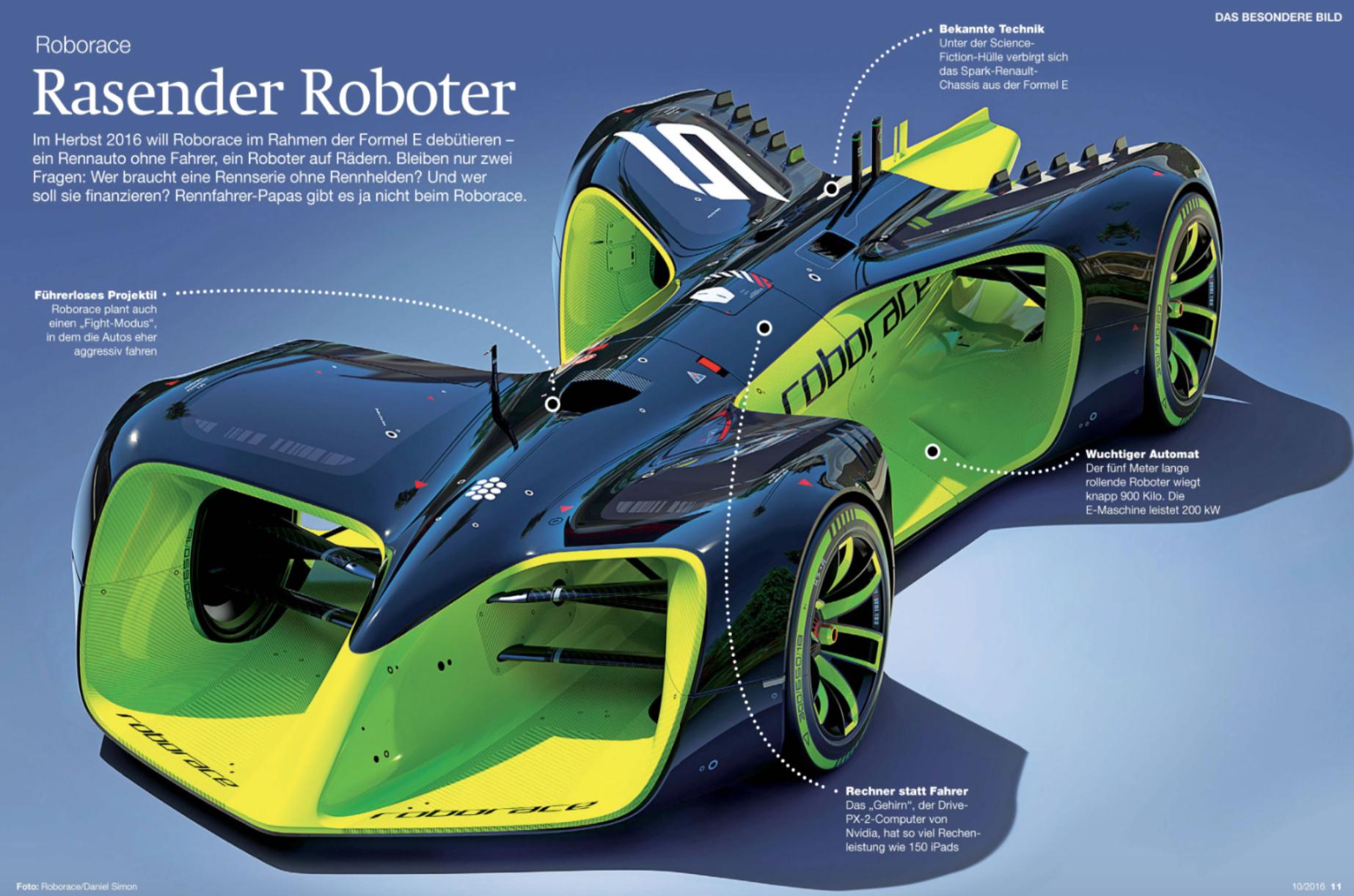 Roborace - Der rasende Roboter bei der Formel E. Das erste Rennauto ...