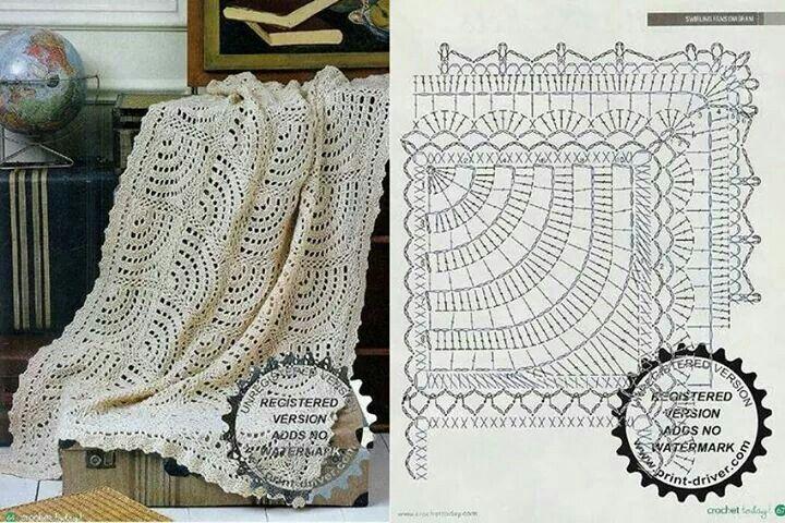 Blanket | Crochet | Pinterest | Manta, Ganchillo mantas y Esquemas