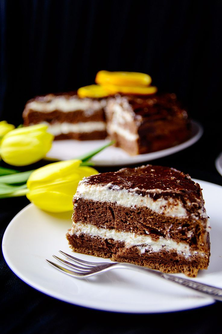Chocolate cake with cottage cheese filling recipe how