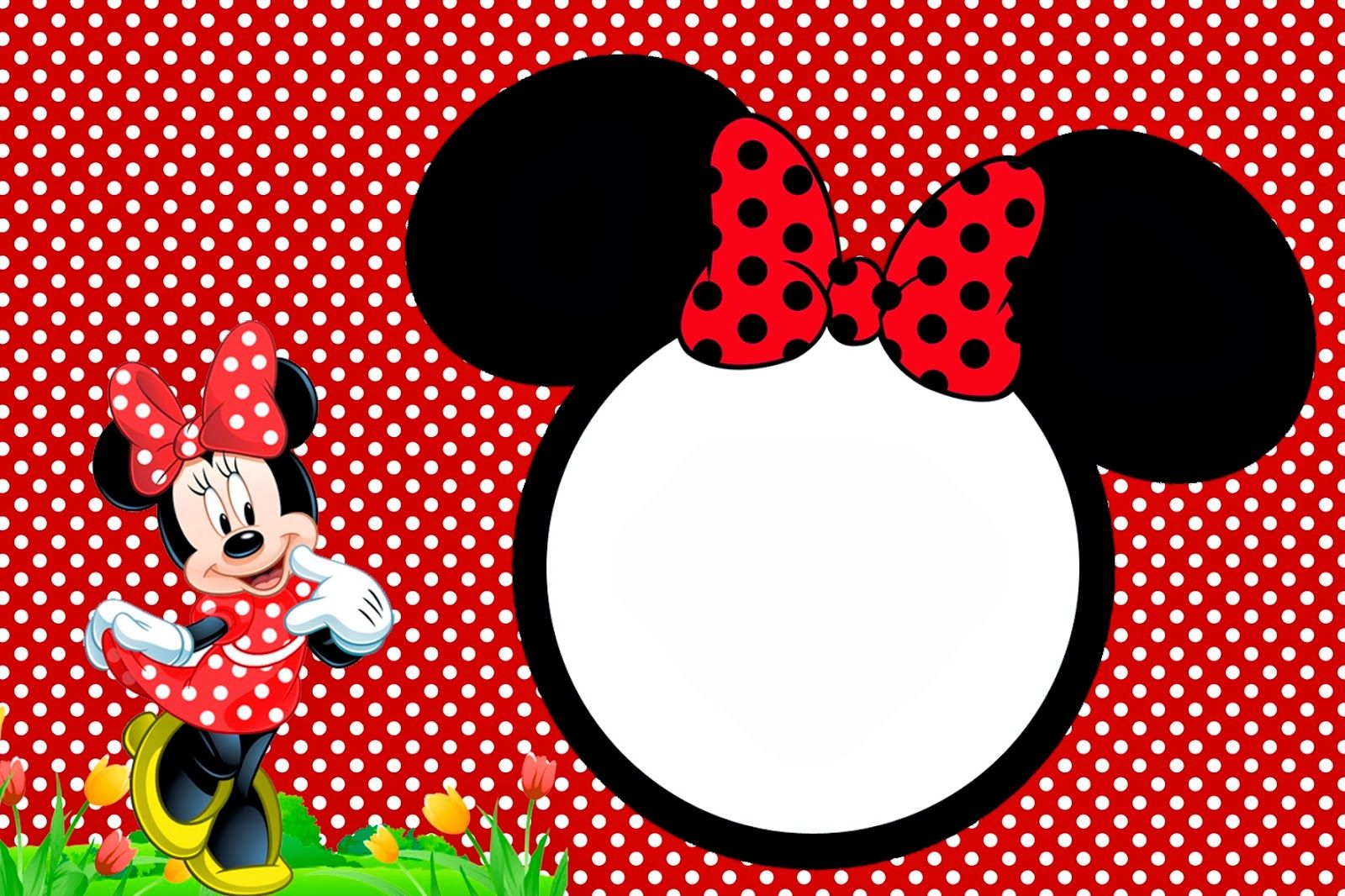 Minnie In Red Free Printables And Party Invitations Right Click Save As