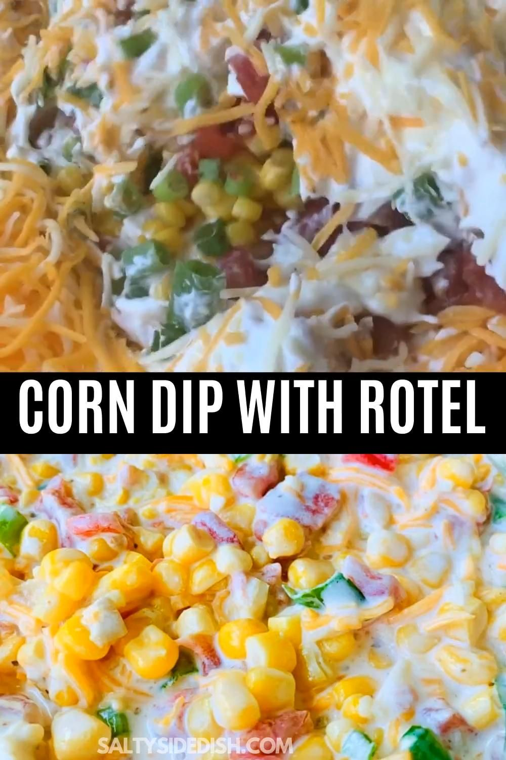 Fiesta Corn dip with Rotel and sour cream, is a delicious large party dip where you and your party guests will enjoy bite after heart bite of creamy and cheesy corn dip. Prepped in 5 minutes, there isn't an easier dip recipe out there. This cold party dip is also incredibly easy to spice up if you prefer a hotter dip or cool down for the kids.