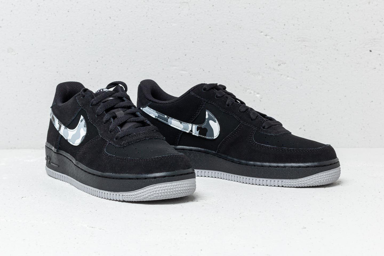 competitive price de30e 0f974 Nike Air Force 1 (GS) Black  Wolf Grey-Dark Grey za skvělou cenu 1 990 Kč  koupíte na Footshop.cz