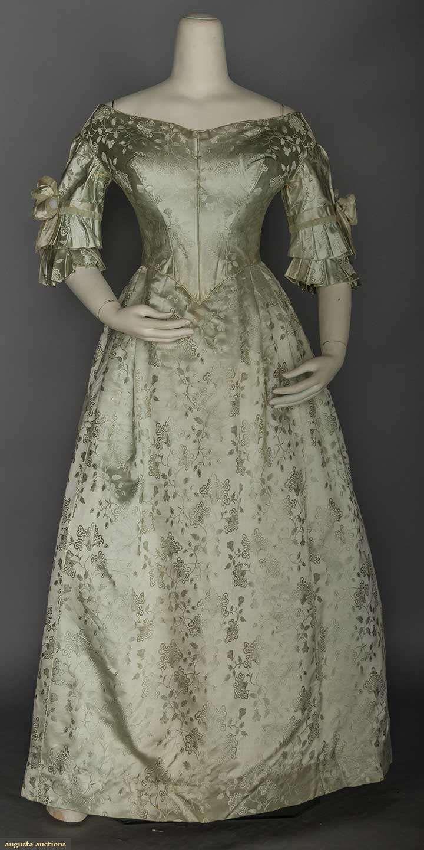 Silk Brocade Ballgown, 1840s, Augusta Auctions, November 11, 2015 NYC