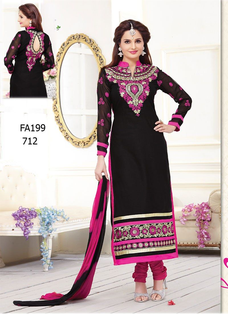 Online Shopping for Latest Fashion Designer Black and P | Salwar ...