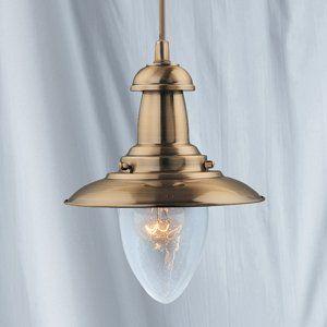 60W Antique Brass Finish Fisherman Lantern Ceiling Light Fitting, 5787AB:  Amazon.co.