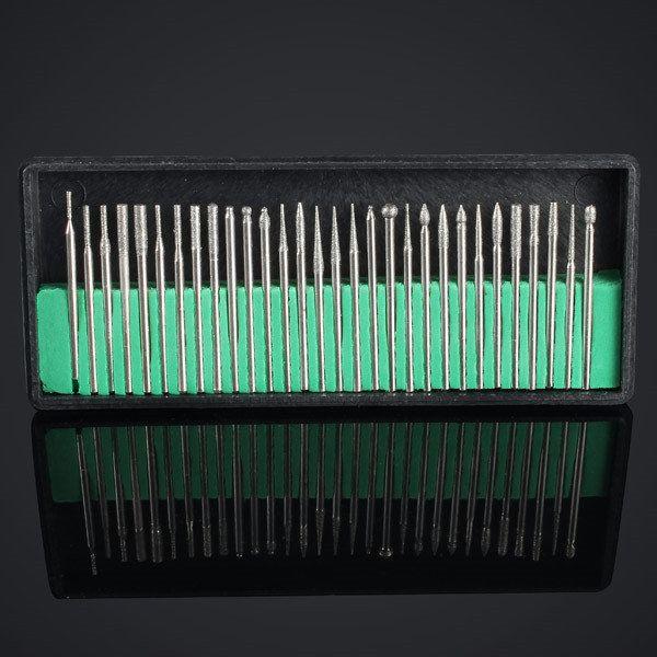 30Pcs Electric Nail Art File Drill Bits Kits Shank Set | Makeup ...