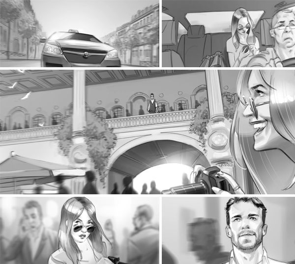 Advertising Storyboard On Behance  Storyboard  Comic Panels