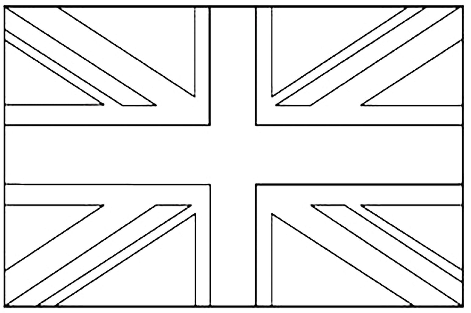 United Kingdom Union Jack Flags Coloring Pages For Kids Coloring