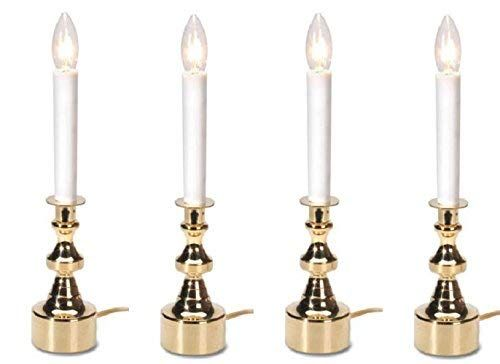 """Darice # 6203-03 7W 12"""" Gold Electric Window Candle Lamps ..."""