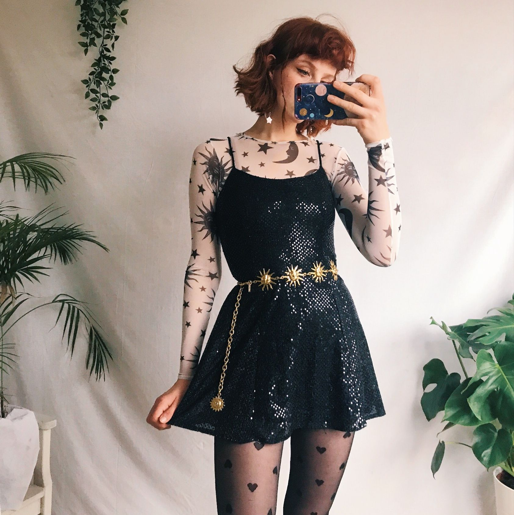 Photo of Beautiful sparkly 90s vintage little black dress…. – Depop