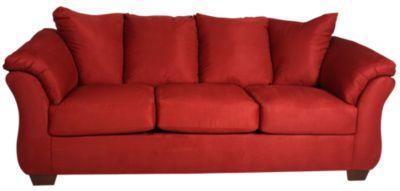Ashley Darcy Microfiber Red Sofa in 2018 | Home Decor ...
